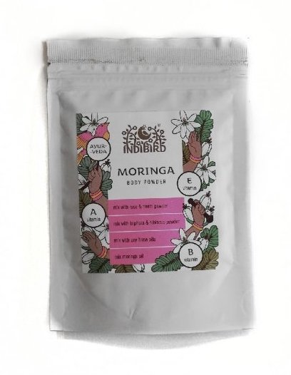 Порошок «Моринга», Moringa body powder (Indibird, Индибирд), 50 г. — Eco-List.ru