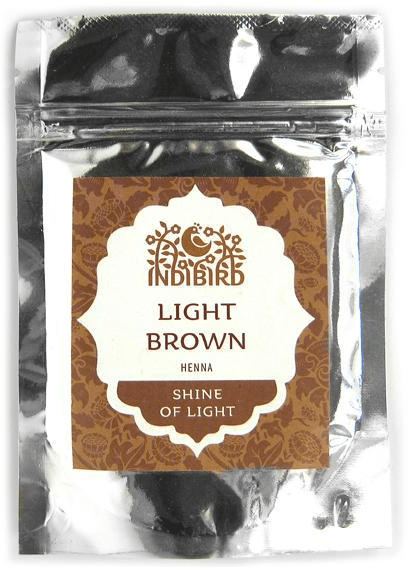 Хна светло-коричневая Light Brown Henna (Indibird, Индибирд), 50 г. — Eco-List.ru