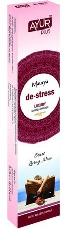 Благовония натуральные De-stress, luxury masala incense (Ayur Plus, Aюр Плюс), 20 г. — Eco-List.ru