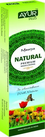 Благовония натуральные Natural, premium masala incense (Ayur Plus, Aюр Плюс), 18 г. — Eco-List.ru